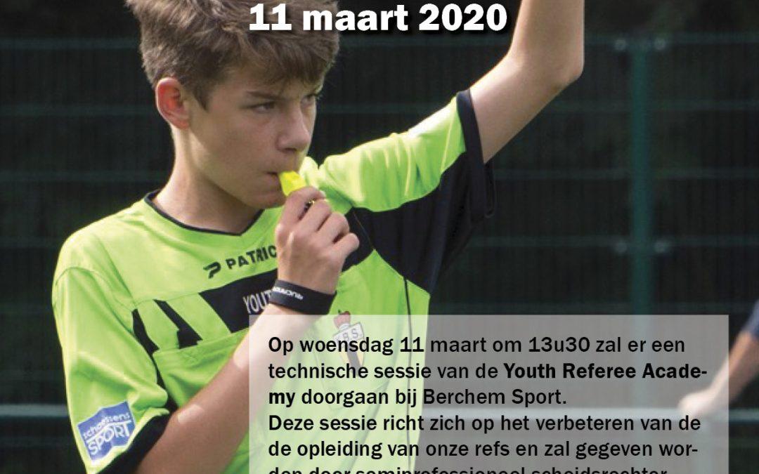 Technische Sessie Youth Referee Academy 11/03/2020