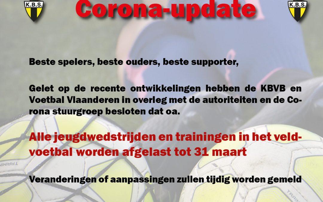 Geen wedstrijden of trainingen tot 31 maart 2020