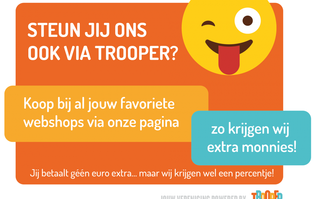 Help je club via Trooper, zonder extra kosten!!
