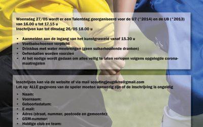 Talentdag Woensdag 27/05
