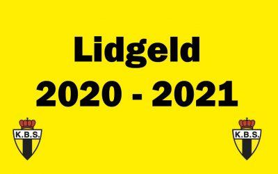 Lidgeld seizoen 2020-2021